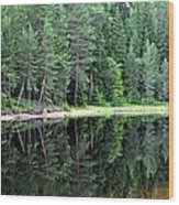 Reflections In Wtare Wood Print