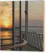 Reflections Of A Chesapeake Sunset Wood Print