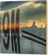 Reflections Of A Sunset Flight Wood Print