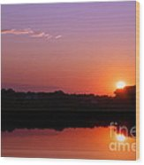 Reflections Of A Sunset Wood Print