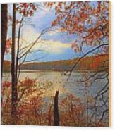 Reflections Of Autum Wood Print