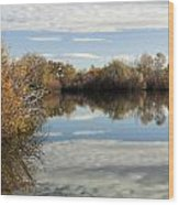 Reflections Of Clouds Wood Print by Dana Moyer