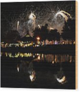 Reflections Of Epcot Wood Print