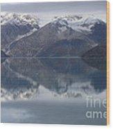 Reflections Of Glacier Bay Alaska II Wood Print