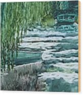 Reflections Of Monet's Pond Wood Print