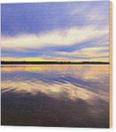 Reflections Of Muskallonge Wood Print
