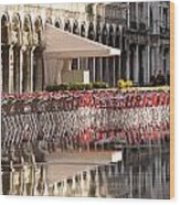 Reflections Of Saint Mark's Square -day Wood Print