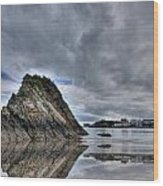 Reflections Of Tenby 2 Wood Print