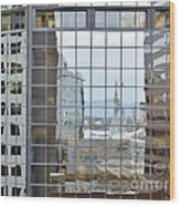 Reflections Of The Capitol Building In Denver Colorado Wood Print