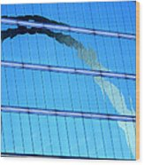 Reflections Of The St Louis Arch Wood Print
