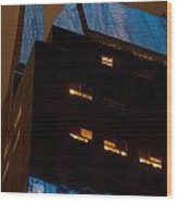 Reflections Of Times Square Wood Print