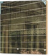 Reflections Of Union Station Wood Print