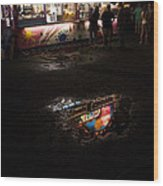 Reflections On A Mid-summer Night Wood Print