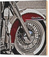 Reflections On A Motorcycle Wood Print