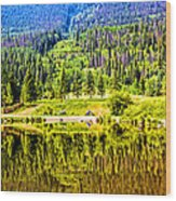 Reflections On A Summer Day - Vail - Colorado Wood Print