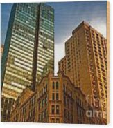 Reflections On Buildings Nyc Wood Print