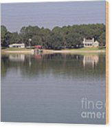 Reflections - On - Lake Weir Wood Print