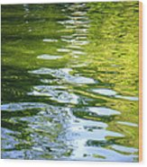Reflections On Madrid Wood Print