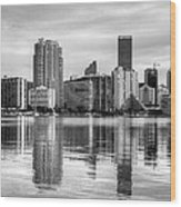 Reflections On Miami Wood Print