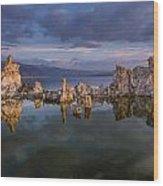 Reflections On Mono Lake 1 Wood Print