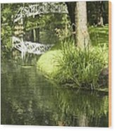 Reflections On Pond Wood Print