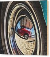Reflections On Route 66 Wood Print