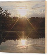 Reflections On The Bayou Wood Print