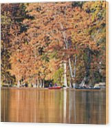 Reflections On The Frio River IIi Wood Print