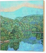 Reflections On The James River Wood Print