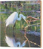 Reflections On Wildwood Lake Wood Print