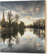 Reflections Over Lichfield Wood Print