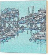 Reflective Blue Wood Print