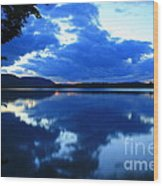 Reflective Blues On Lake Umbagog  Wood Print