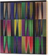 Reflective Blurs Wood Print