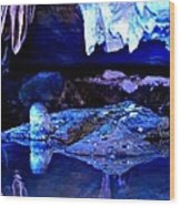 Reflective Cavern Wood Print