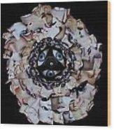 Reflective Mandala Wood Print