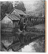 Reflective Past Wood Print