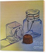 Reflective Still Life Jars Wood Print by Brenda Brown