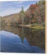 Reflection On Lake Winfield Scott 2 Wood Print