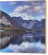 Reflectons Of Hallstatter See I Wood Print