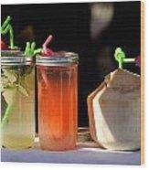 Refreshing Drinks Wood Print