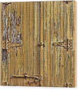 Refrigerated Boxcar Door Wood Print