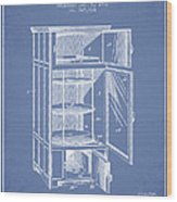 Refrigerator Patent From 1901 - Light Blue Wood Print
