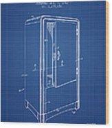 Refrigerator Patent From 1942 - Blueprint Wood Print