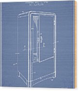 Refrigerator Patent From 1942 - Light Blue Wood Print