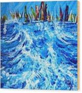 Regatta.triptych. Part Two Wood Print