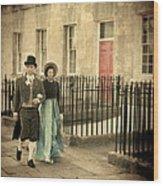 Regency Couple Wood Print