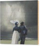 Regency Couple Wood Print by Joana Kruse