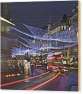 Regent Street Lights Wood Print