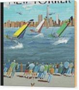 Reggata On The Hudson Wood Print